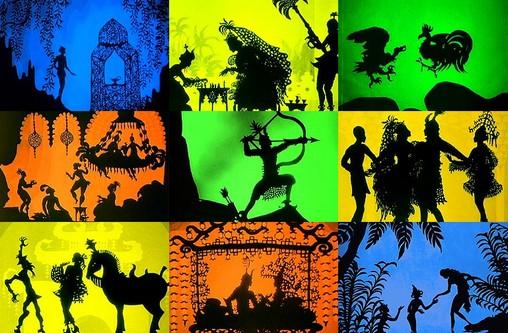 """Szenen aus dem ersten erhaltenen Trickfilm von Lotto Reiniger: """"Die Abenteuer des Prinzen Achmed"""""""